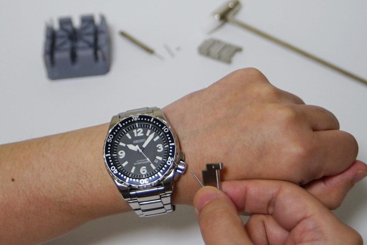 ピン方式の時計ベルト調整方法【写真解説】